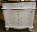 Bespoke Ornate Single French Vanity Unit with Solid Marble Top